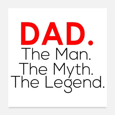 For Papa Papa The Man The Myth the legend shirt - Poster