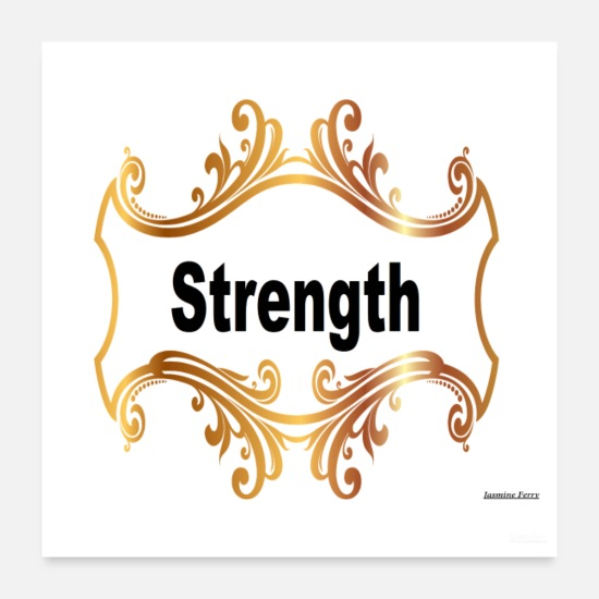 "Power Posters - ""Strength"" - Posters white"