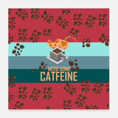 Isometric Catfeine Poster - Poster