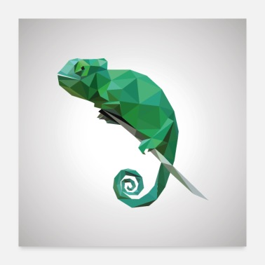 Arabia Colorful Veiled Chameleon - Poster