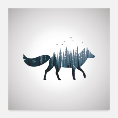 Foxes Fox Lover Cute Fantasy Fox - Poster