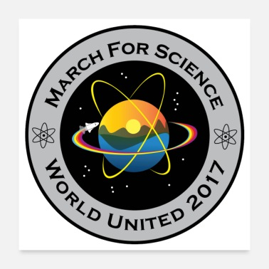 Biology march for science astronaut - Poster