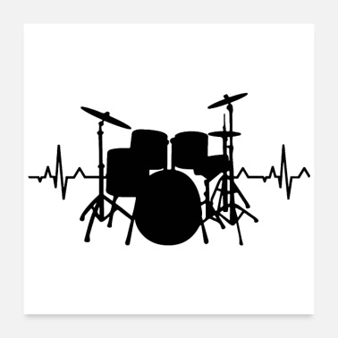 Drumming Drums Heartbeat Funny drummer - Poster