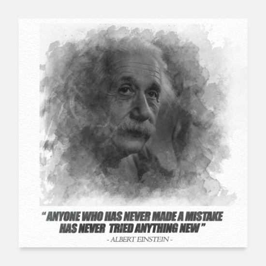 Motivational Posters - poster quote albert einstein - Posters white