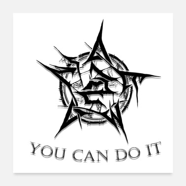 Wound YOU CAN DO IT DESIGN T-SHIRT - Poster