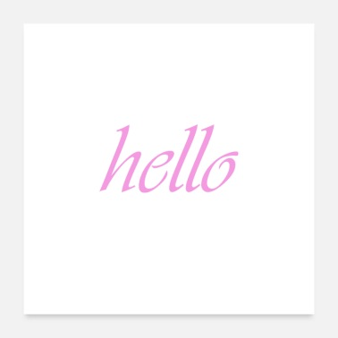 Stylish hello4 - Poster 24x24
