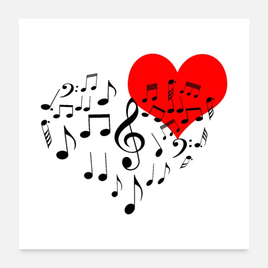 Singing Posters - Singing Heart - Posters white