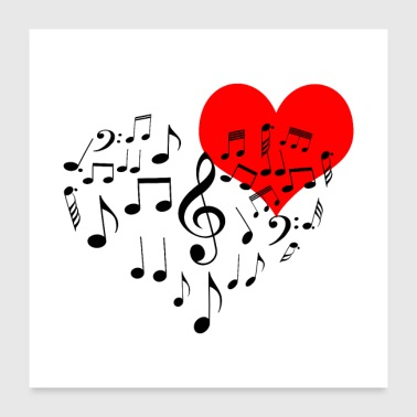 I Heart Singing Heart - Poster 24x24