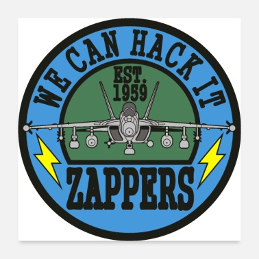 Navy Growler VAQ-130 Zappers - Poster 24x24