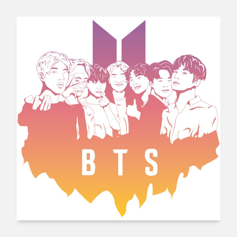 Army Posters - BTS ARMY Gradient - Posters white