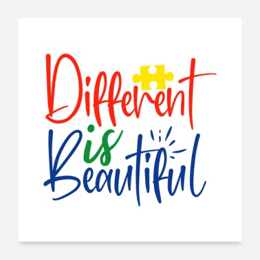 Different Different is Beautiful Autism - Poster