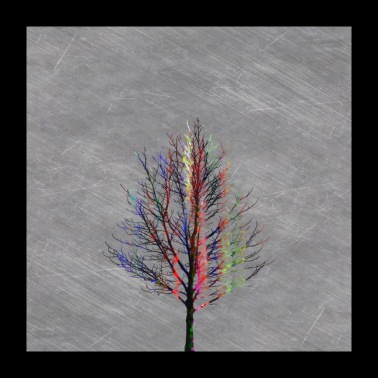 Modern Colorful Tree Silhouette Design. - Poster 24x24