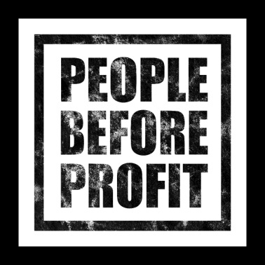 People Before Profit - Human Rights Poster (Black) - Poster 24x24
