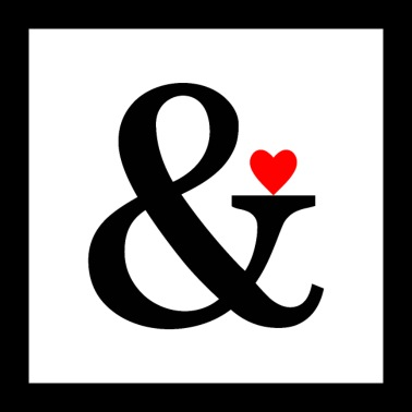 ampersand heart love gift - Poster 24x24