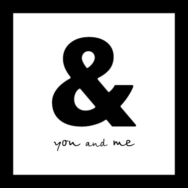 Ampersand you and me poster gift - Poster 24x24
