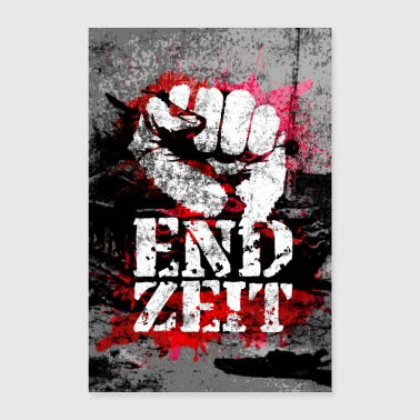 Endzeit Apocalypse Poster - Raised Fist - Poster 8x12