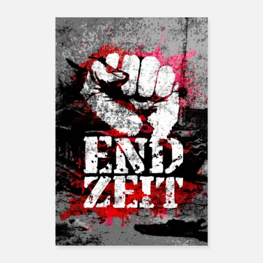 Fist Endzeit Apocalypse Poster - Raised Fist - Poster 8 x 12