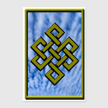 Golden Karma Endless Knot or Eternal Knot Poster - Poster 8x12
