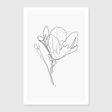Magnolia Flower - Poster 8x12