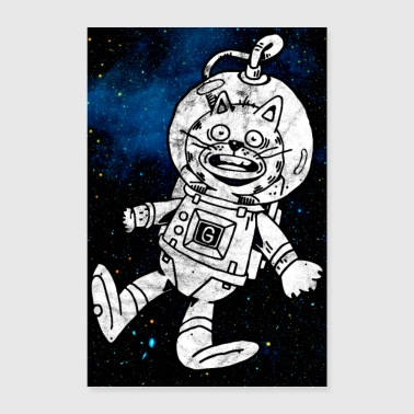 Space Cat Astronaut Poster - Poster 8x12