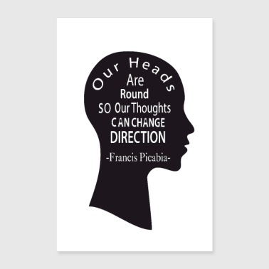 Our heads are round-Francis Picabia- - Poster 8x12
