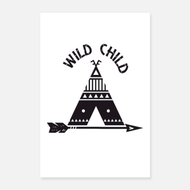 Black And White Wild Child - Poster 8x12
