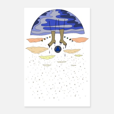 Swim Space Swimmer - Poster 8x12