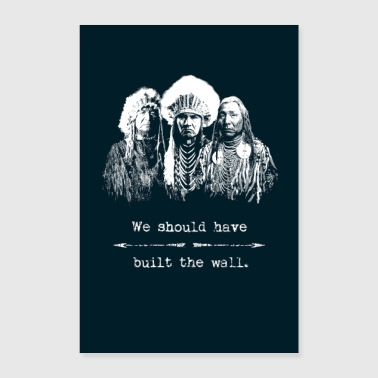 American Native Americans Indians Immigration Politics - Poster 8x12
