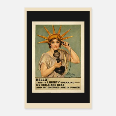 Politics Liberty Vintage Retro Political Satire Poster - Poster 8x12