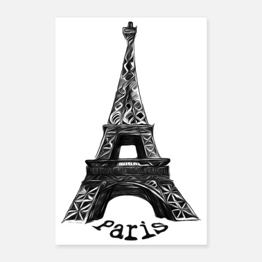 Paris Eiffel Tower, Paris, France - Poster 8x12
