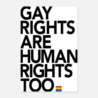Right Gay Rights Are Human Rights Poster - Poster 8x12