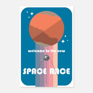 Abstract WELCOME TO THE NEW SPACE RACE - Poster 8 x 12