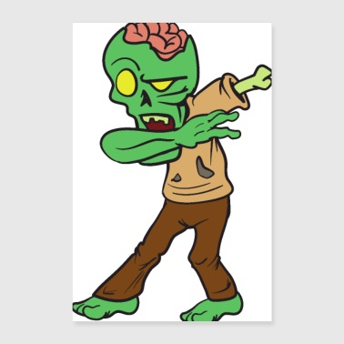 Dabbing Dancing Halloween Monster Zombie - Poster 8x12