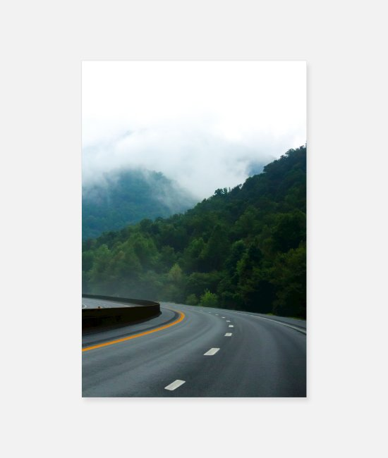 Mountains Posters - American Freeway - Posters white