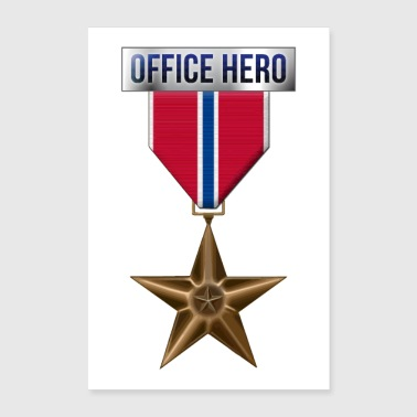 Medal Bronze Star Office Hero Funny Military Army - Poster 8x12