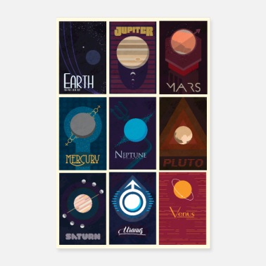 System Solar system poster - Poster 8 x 12