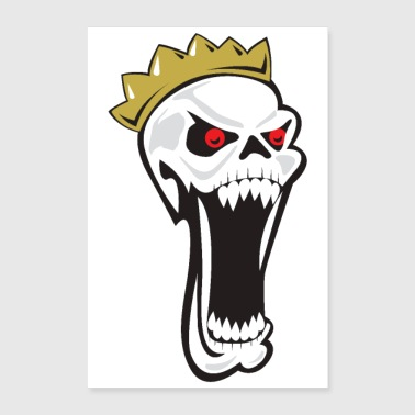 Halloween King of Skeletons Crown Big mouth Scary - Poster 8x12