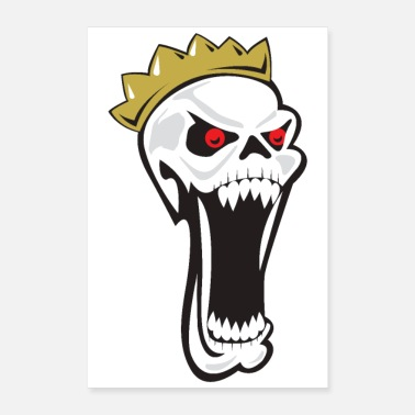 Mouth Halloween King of Skeletons Crown Big mouth Scary - Poster 8x12