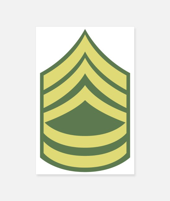 SFC Posters - Military uniform US Army Sergeant First Class SFC - Posters white