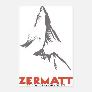 Switzerland Zermatt, Valais, Switzerland - Poster 8x12