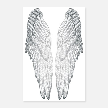 Long Long Silvered Wings - Poster