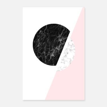 Scandinavian Scandinavian Minimalist Black And White Marble Art - Poster 8 x 12