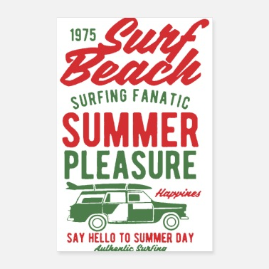 Beach Volleyball surf beach summer pleasure 2 - Poster 8x12