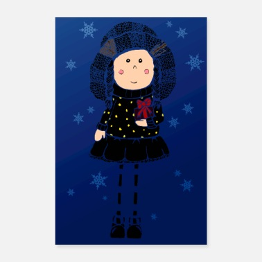 Advent Girl Gifts Winter magic - Poster 8x12