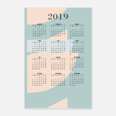 Calender 2019 graficlove 2 - Poster 8x12