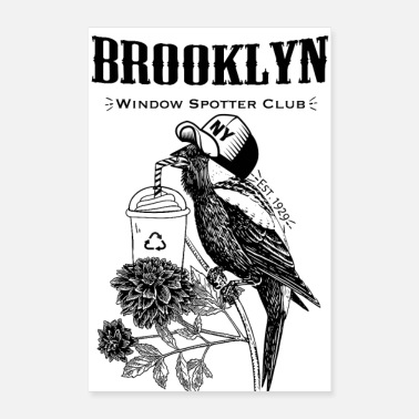 Ny Window Spotter Club Brooklyn - Poster 8 x 12