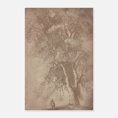 Ecology tree vintage paper - Poster 8 x 12