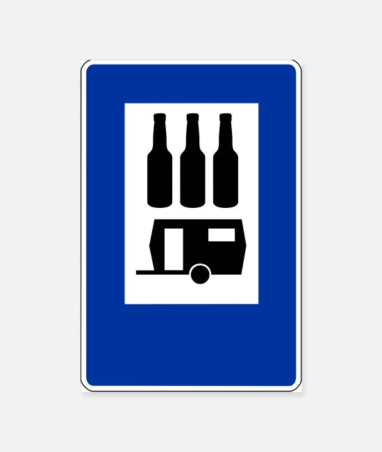 Camper Posters - Camping camper sign with beer funny - Posters white
