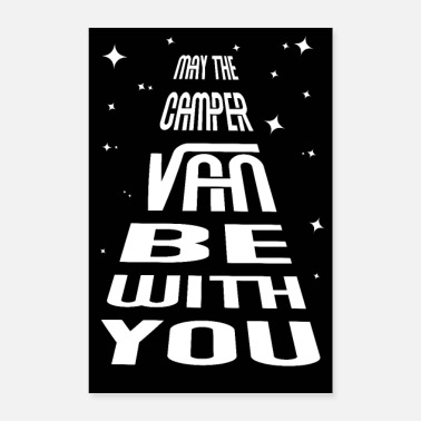 Mobile funny camping camper van quote mechanic poster - Poster 8 x 12