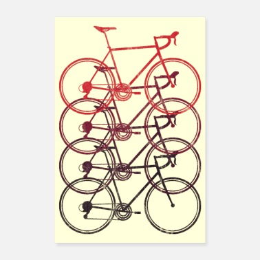 Vehicle road bike race bike cycling triathlon retro poster - Poster